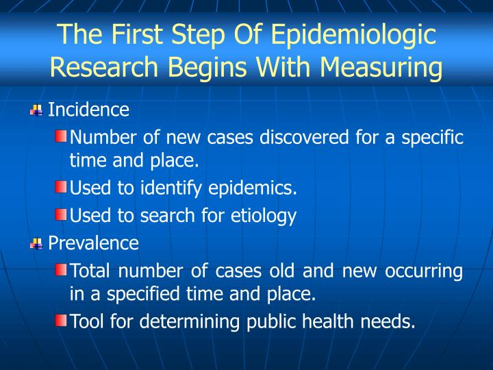 The First Step Of Epidemiologic Research Begins With Measuring