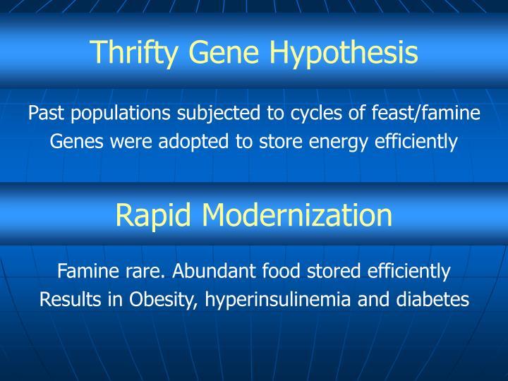 Thrifty Gene Hypothesis