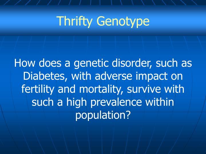 Thrifty Genotype