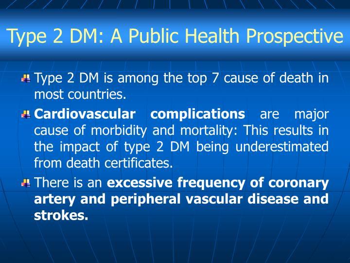 Type 2 DM: A Public Health Prospective
