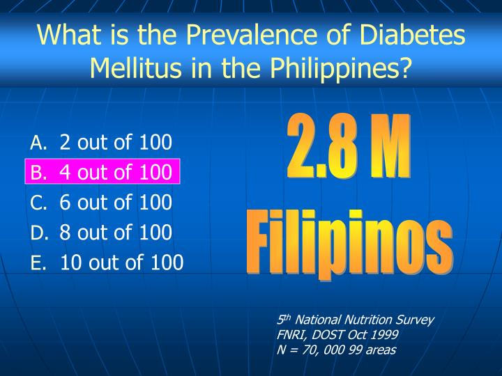 What is the Prevalence of Diabetes Mellitus in the Philippines?