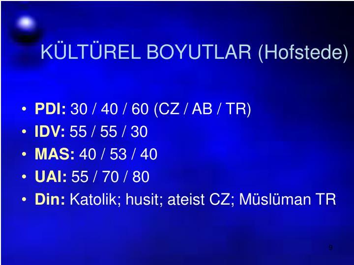 KÜLTÜREL BOYUTLAR (Hofstede)