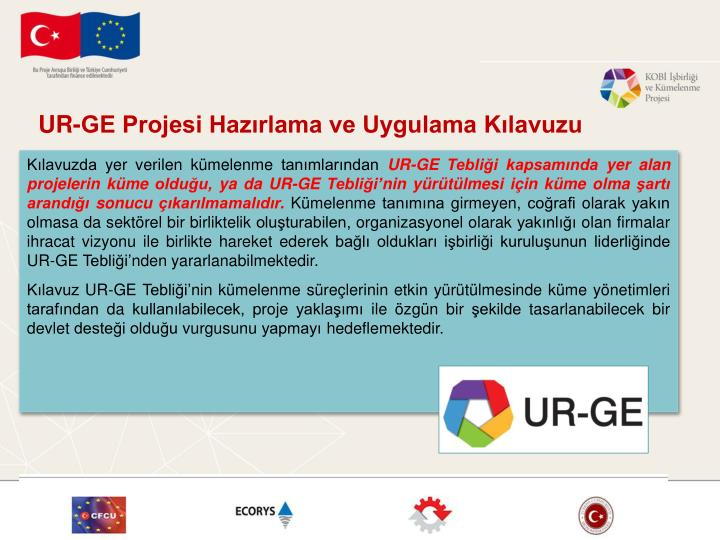 UR-GE Projesi Hazırlama ve Uygulama Kılavuzu