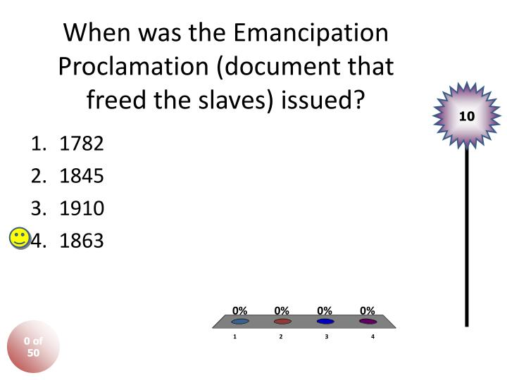 When was the emancipation proclamation document that freed the slaves issued