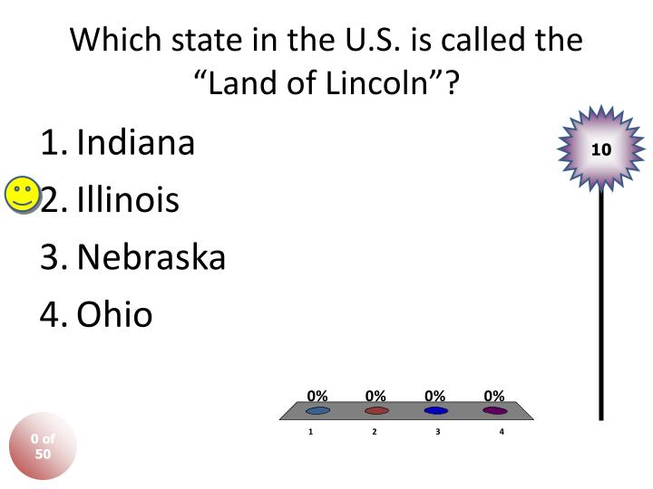 Which state in the u s is called the land of lincoln