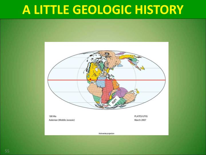 A LITTLE GEOLOGIC HISTORY