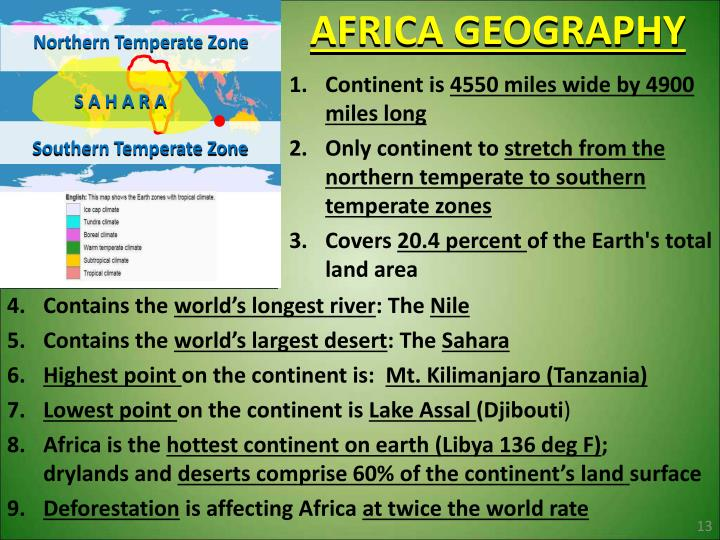 AFRICA GEOGRAPHY
