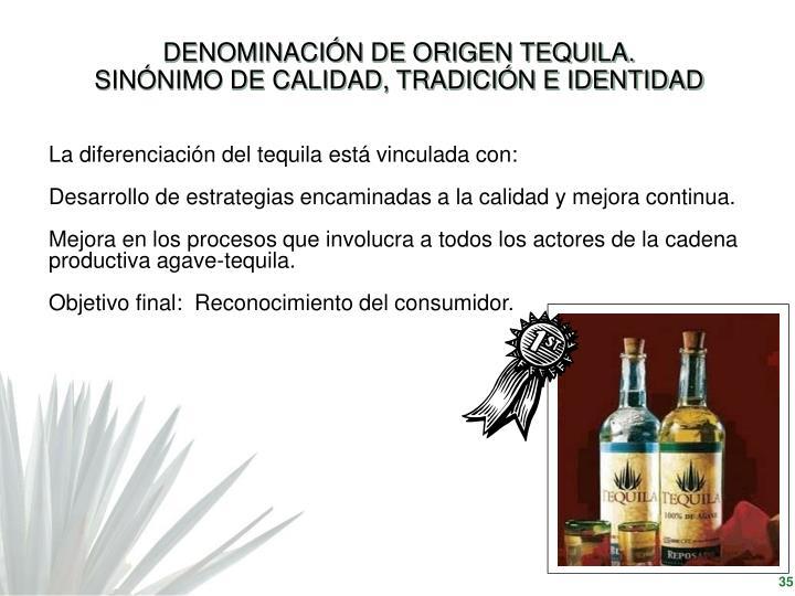 DENOMINACIÓN DE ORIGEN TEQUILA.