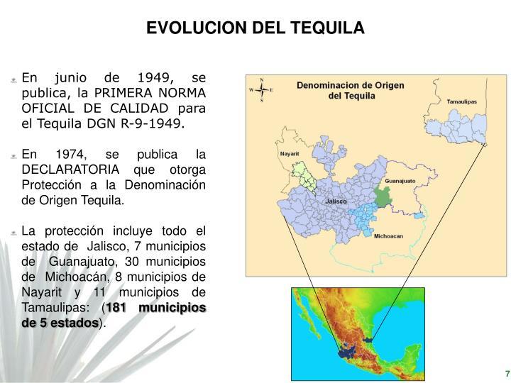 EVOLUCION DEL TEQUILA