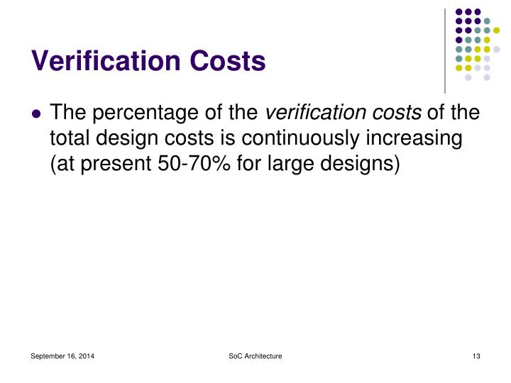 Verification Costs