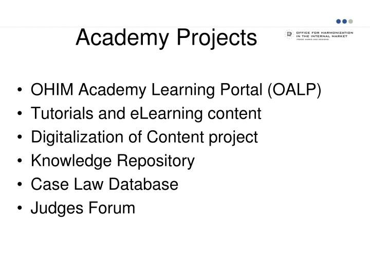Academy projects
