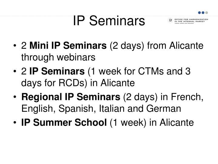 IP Seminars