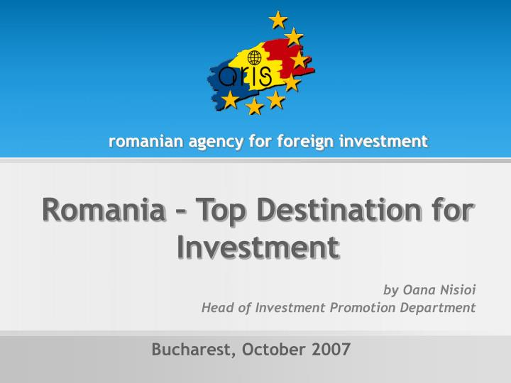 Romanian agency for foreign investment