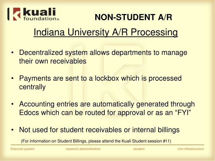 NON-STUDENT A/R