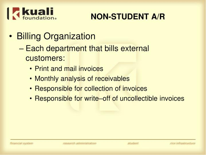 Billing Organization