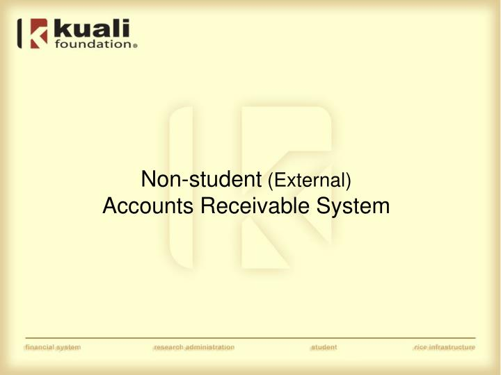 Non student external accounts receivable system
