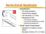aorto caval syndrome