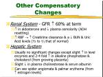 other compensatory changes