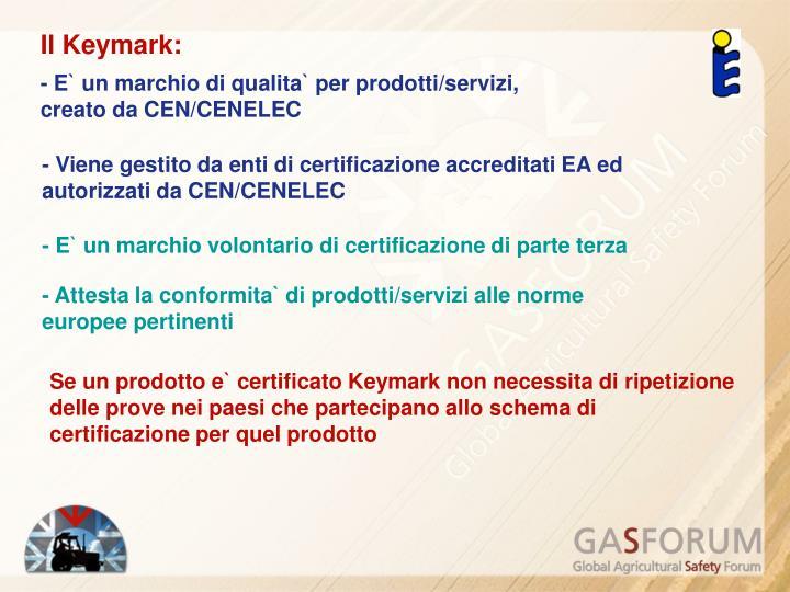 Il Keymark: