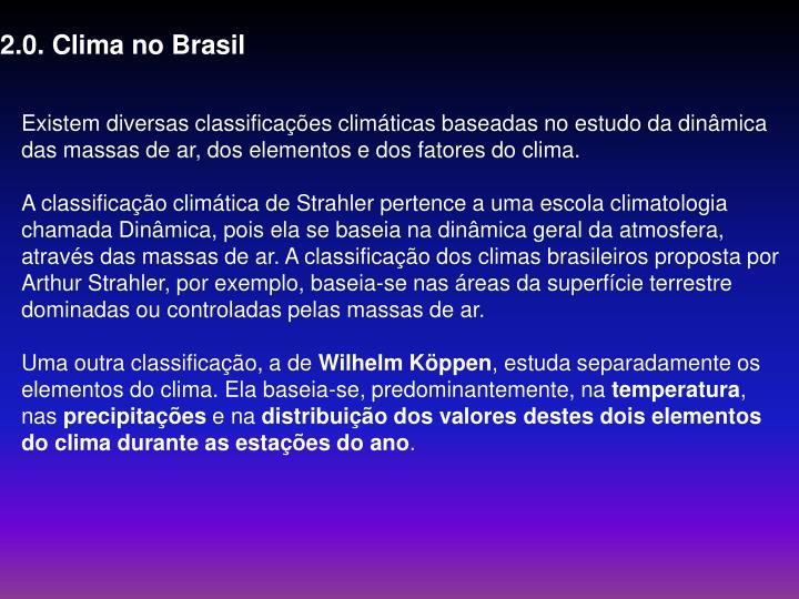 2.0. Clima no Brasil