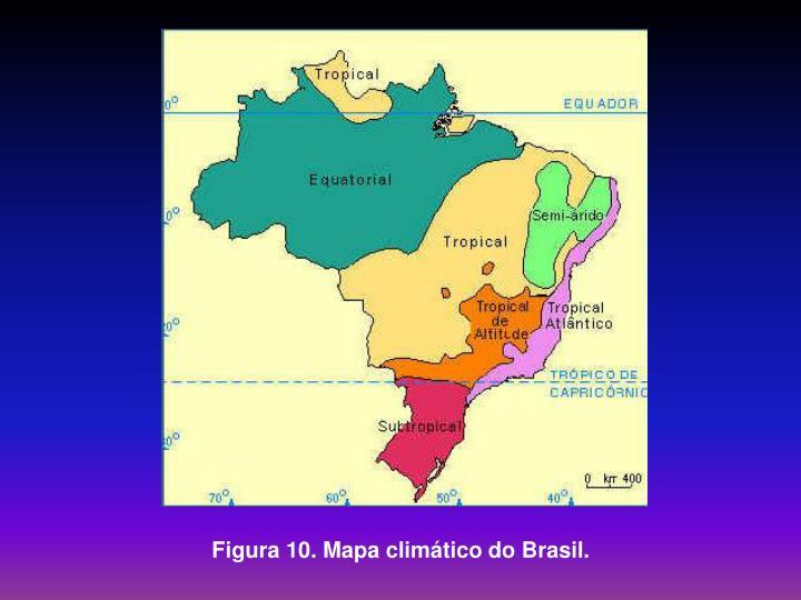 Figura 10. Mapa climático do Brasil.