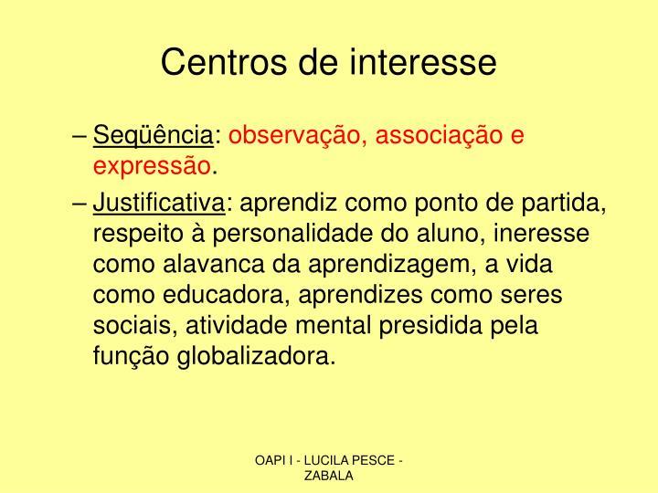Centros de interesse