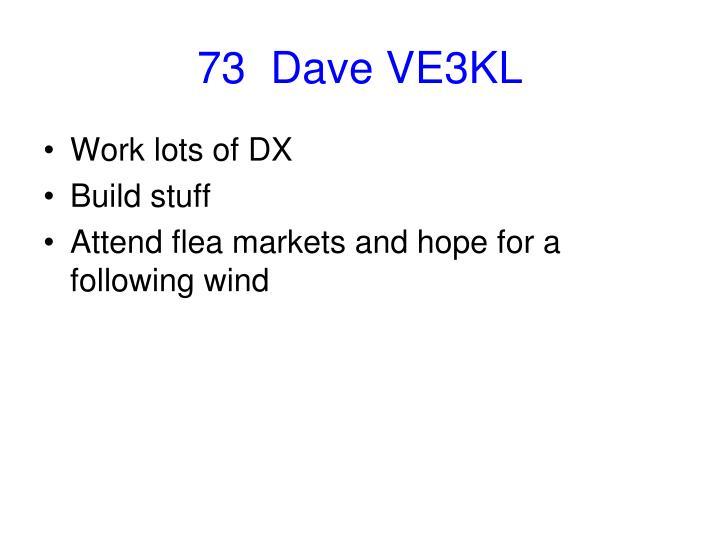 73  Dave VE3KL