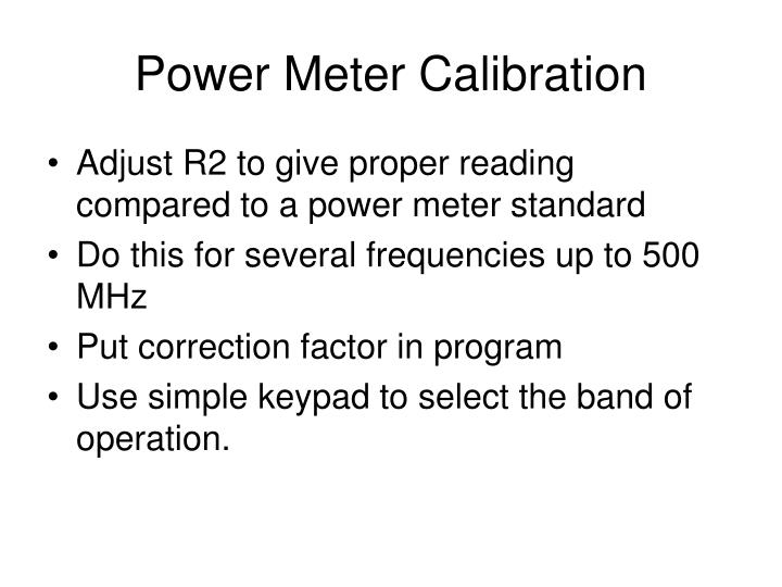 Power Meter Calibration