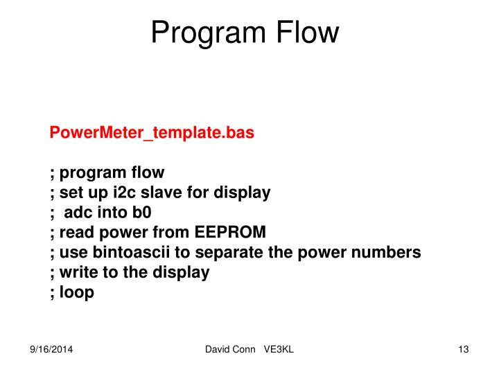 Program Flow