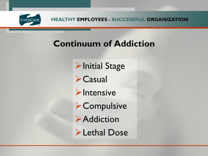 Continuum of Addiction