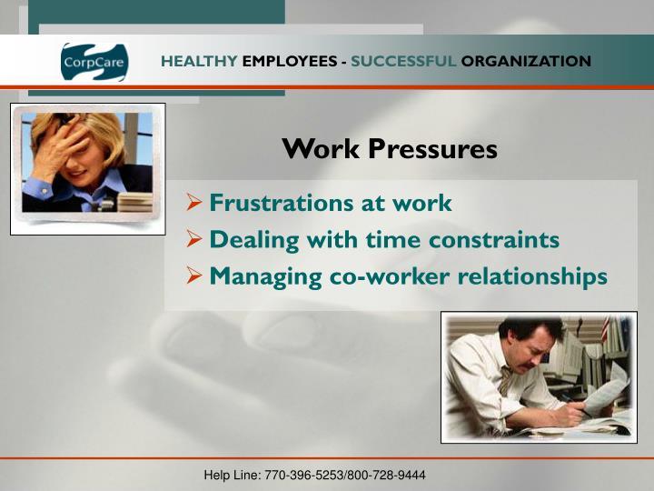 Work Pressures