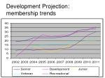 development projection membership trends