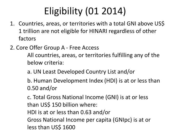 Eligibility (01 2014)