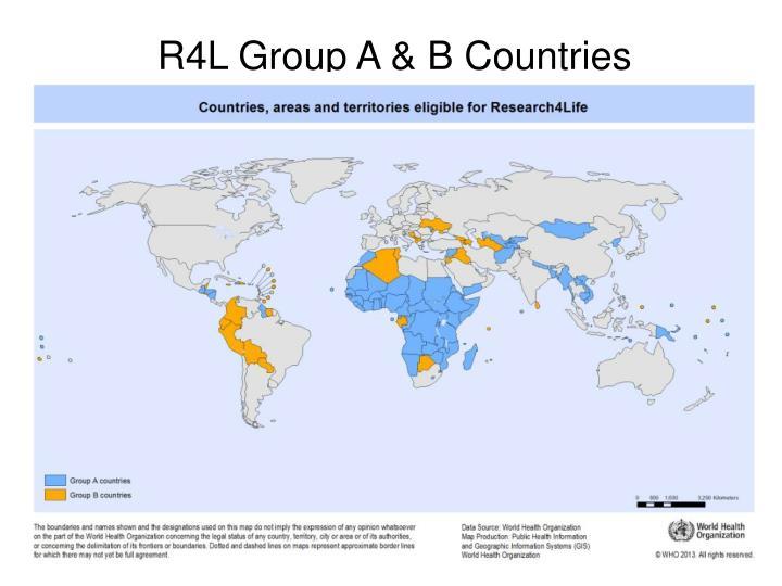 R4L Group A & B Countries