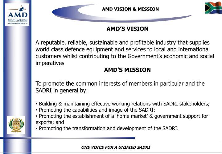 AMD VISION & MISSION
