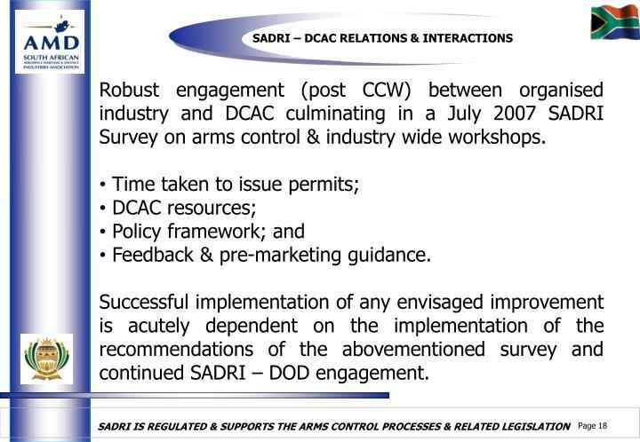 SADRI – DCAC RELATIONS & INTERACTIONS