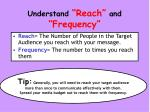 understand reach and frequency