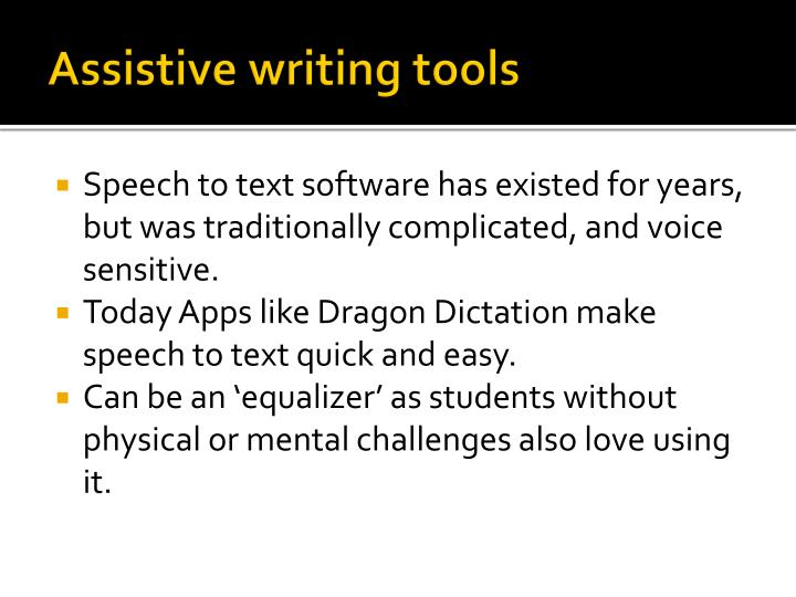 Assistive writing tools