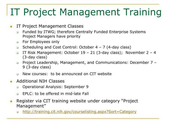 IT Project Management Training