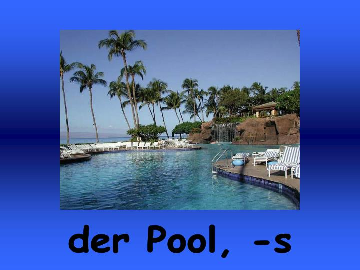 der Pool, -s