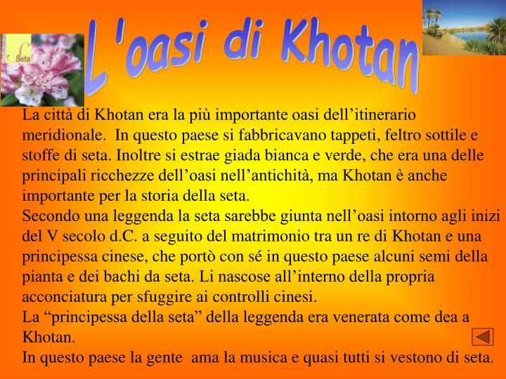L'oasi di Khotan