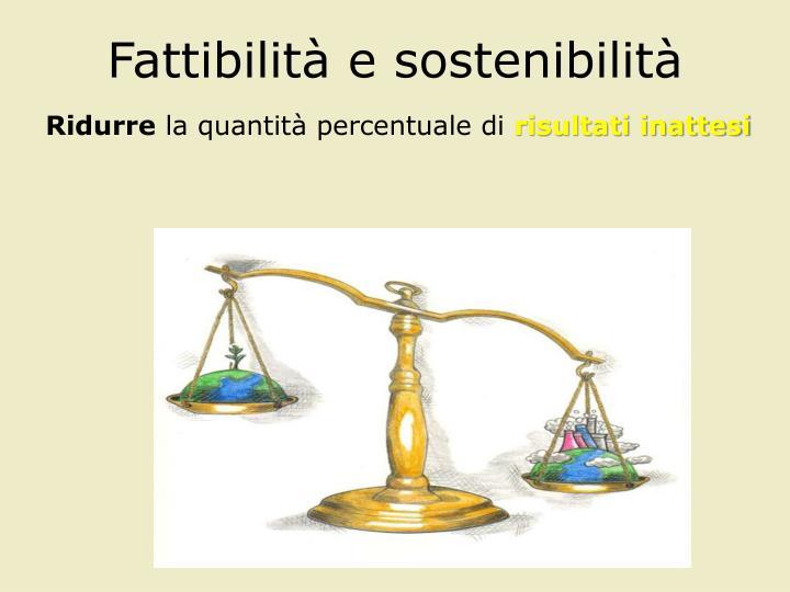 Fattibilità e sostenibilità