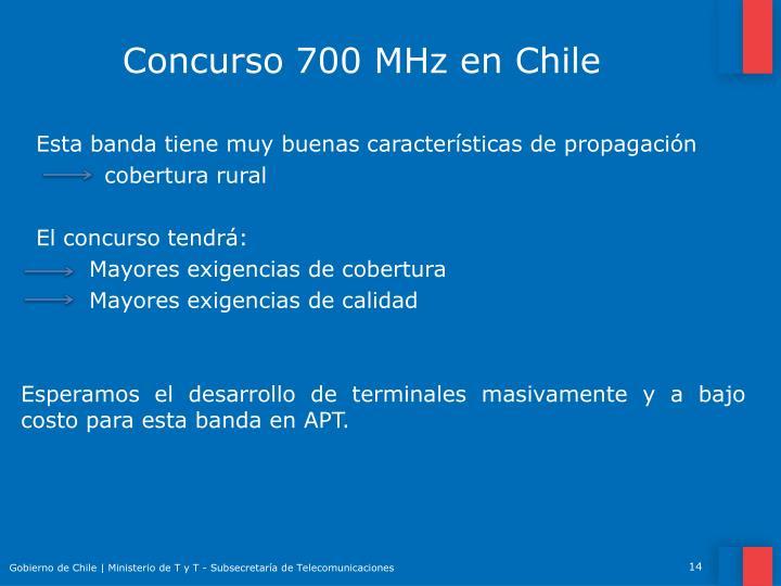 Concurso 700 MHz en Chile