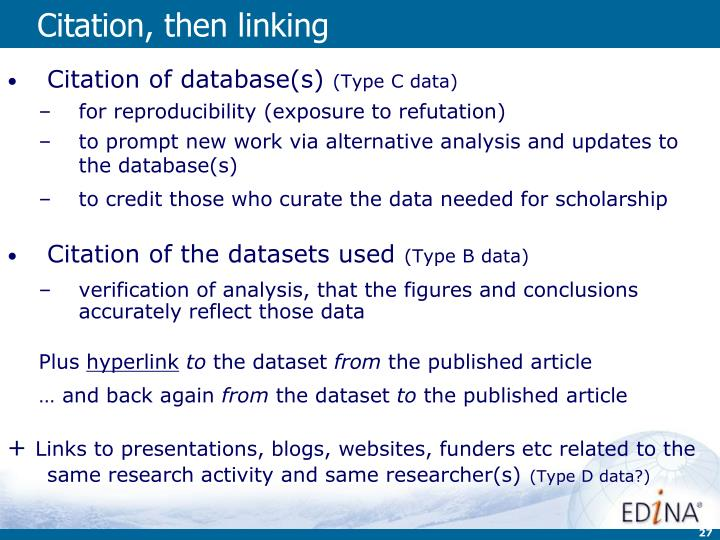 Citation, then linking