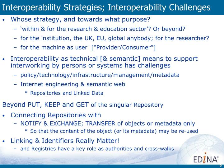 Interoperability Strategies; Interoperability Challenges