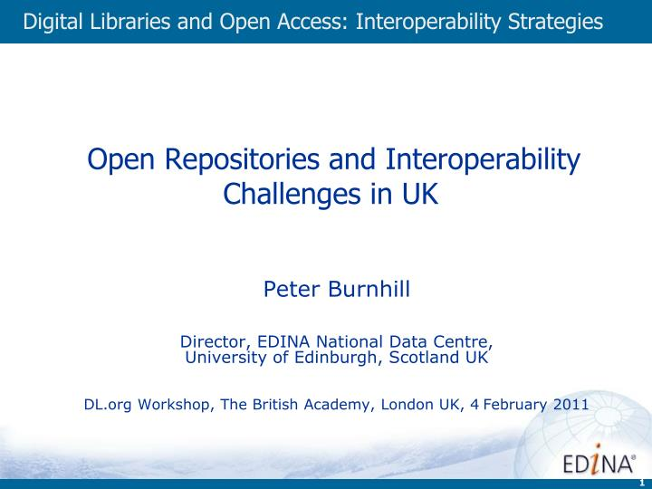 Open repositories and interoperability challenges in uk