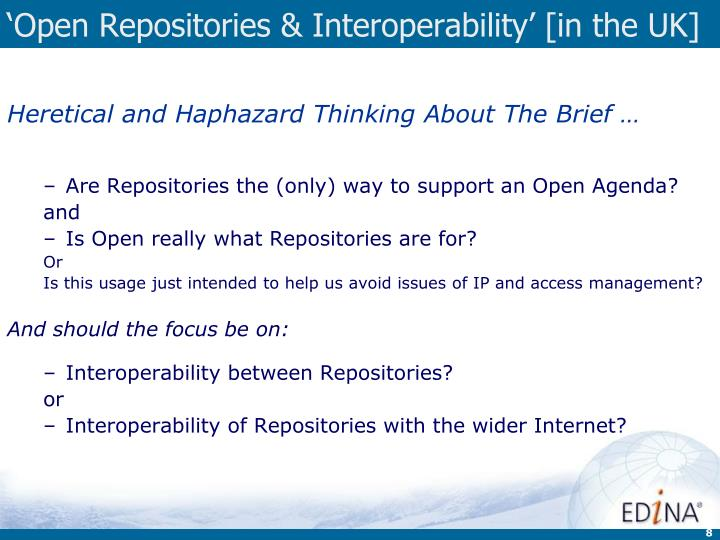 'Open Repositories & Interoperability' [in the UK]