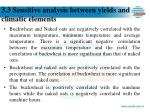 3 3 sensitive analysis between yields and climatic elements1