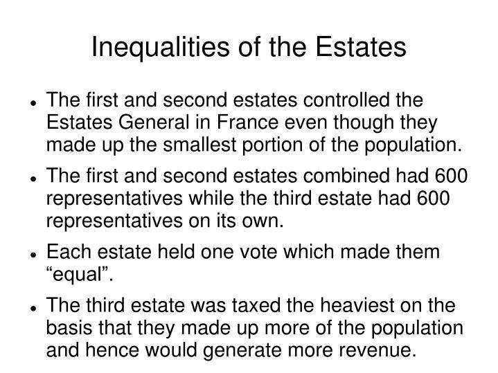 Inequalities of the Estates