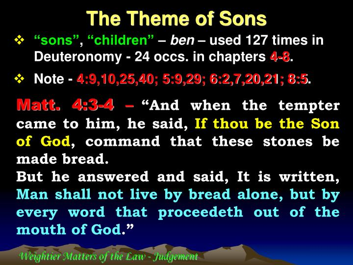 The Theme of Sons